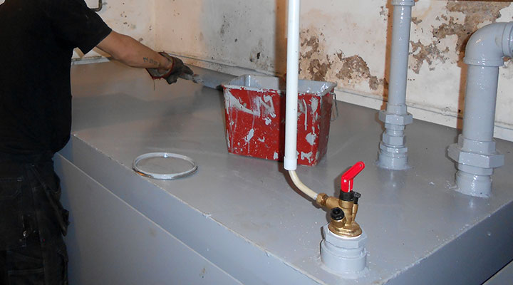 Citerne mazout garage fabrication sur mesure installation for Cuve fioul dans garage